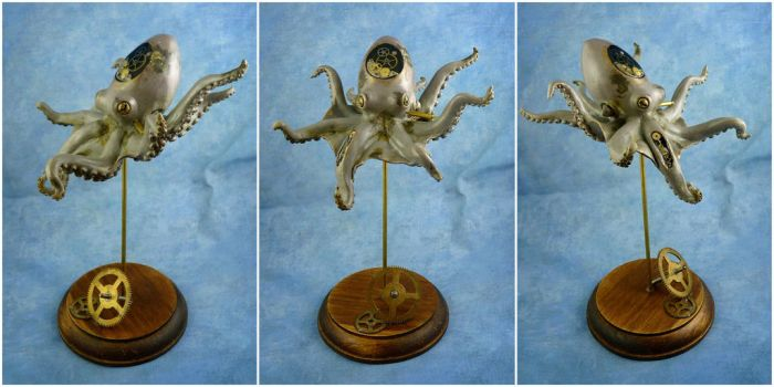 Steampunk Octopus Sculpture by Noadi