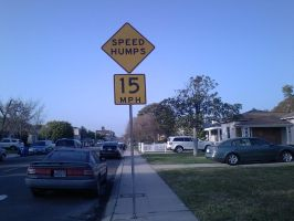 Speed humps sign no. 1 by stealing-Hidans-tofu