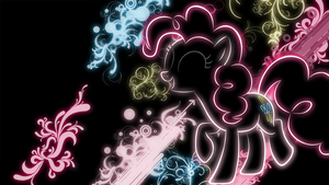 Pinkie Pie neon wallpaper by LikeMike213
