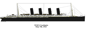 RMS Lusitania May 7th 1915 by PhantomofTheRuhr
