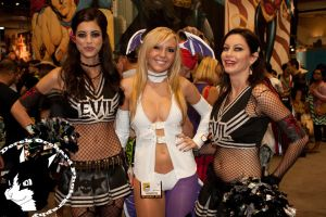 Evil cheerleaders and Morrigan by ZazMan
