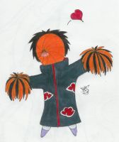 Cheerleader -Chibi Tobi- by Dark-Dragon-Kyra