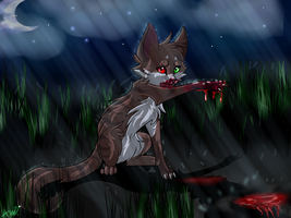 Let the rain wash away the blood by Warriocat12
