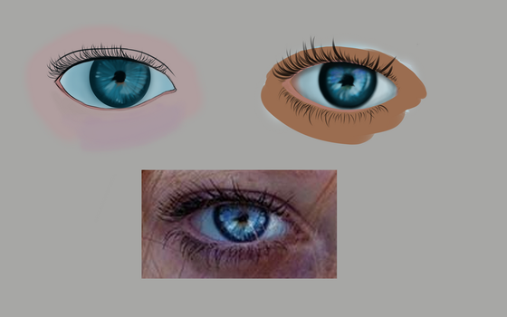 Trying out on eye by Anonymio