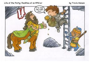 Centaurs and ladders : RPG Comic by travisJhanson