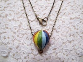 Hot Air Balloon Necklace. by x-GlassHearts-x