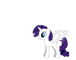 Alicorn Rarity by Winged--Maned--Wolf
