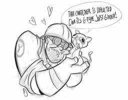 Engie's Pocket Purrer by dodgyrommer
