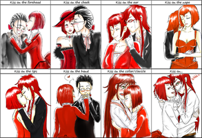 Kiss Meme: Grell x Madam Red by kolnrawr
