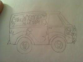 goth mystery machine uncolored by Lovett91