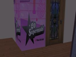 GSM themed wall for Sims 2 by Varjokani
