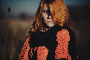 girl with red hair by eugene-kukulka