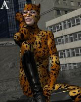 Cheetah Pinup by Antileaf-Artworks