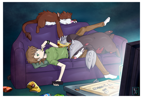 Commission .: It's Been a Long Day :. by Icandoittoo