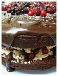 Chocolate Berry Mud Cake by RainbowsandDaydreams