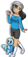 PKMN trainer Maria wants to battle! by Ceribou