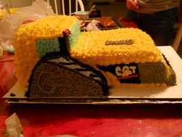 Cat Challenger Cake Side View by MysteriousFoxThief