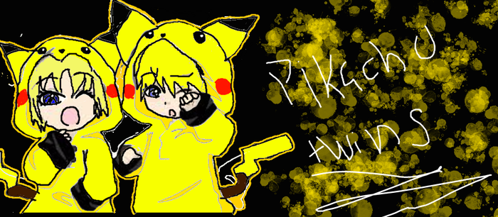 Pikachu Twins by creepypastaqueen167