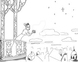 Princess And The Frog Drawing by BlindFaeth
