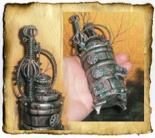 Miniature Steampunk Furnace by grimdeva