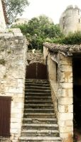 Mediaeval Stairs by Wollatozzz