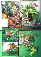 Small Screen Scream Page Two (No Dialogue) by Okida