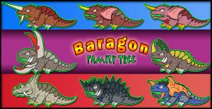 Baragon Family Tree by earthbaragon