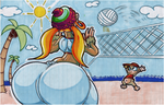 Tiny Kong And Diddy Kong Beach Volleyball. by Virus-20