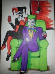 Harley and Joker commission by Chainsaw-Munkey