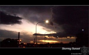 Stormy Sunset by maelyn