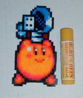 Chef Kirby Mini Bead Sprite by SerenaAzureth
