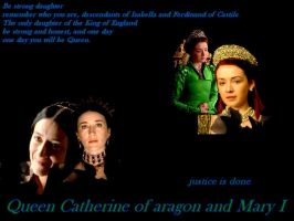 Catherine of aragon and Mary I by Lucrecia-89