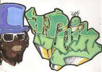 T-Pain Graff by EyVo