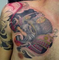 Samurai kabuto tattoo by Juliano-Pereira