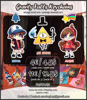 Gravity Falls Keychains [INFO] by SandraGH