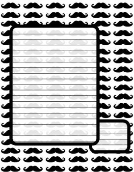 Moustache Note Stationary by SophieWithLove