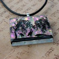 Paradise Fused Glass Pendant by FusedElegance