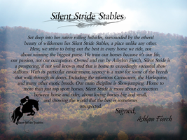 A letter from Silent Stride by BrindleTail