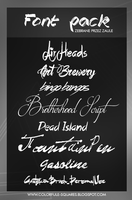 002 Font pack collected by Zaula by ZaulaGraphics