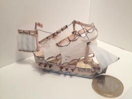 Warship papercraft by BigAngryCat