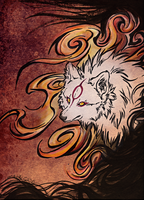 Amaterasu_Goddess II by WhiteSpiritWolf