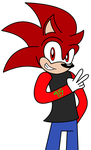 Blackdevil915 the Hedgehog by DarkkontheHedgehog