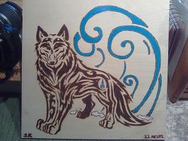 water wolf tribal by KazeandGeira