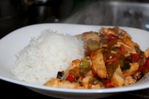 Chicken with sweet and sour sauce by Atozy