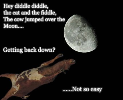 The Cow Jumped  Over The Moon by Dark-misfit