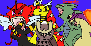 My Old Pokemon Soul Silver Team by Drax254