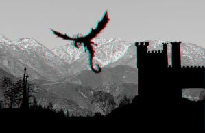 Flying Dragon in Silhouette 3-D conversion by MVRamsey