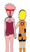 NaruSaku Together Colored by NaruHina2010