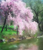 The Pink Tree by SLMooreFineArt