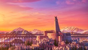 Sunset Castle by iCephei